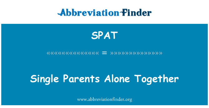 Single parents alone together