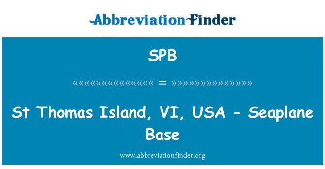 SPB: St Thomas Island, VI, USA - Seaplane Base