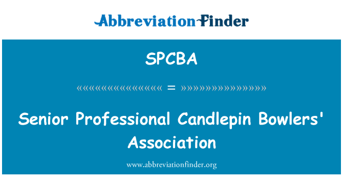 SPCBA: Senior Professional Candlepin Bowlers' Association