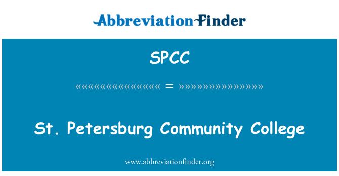 SPCC: St. Petersburg Community College
