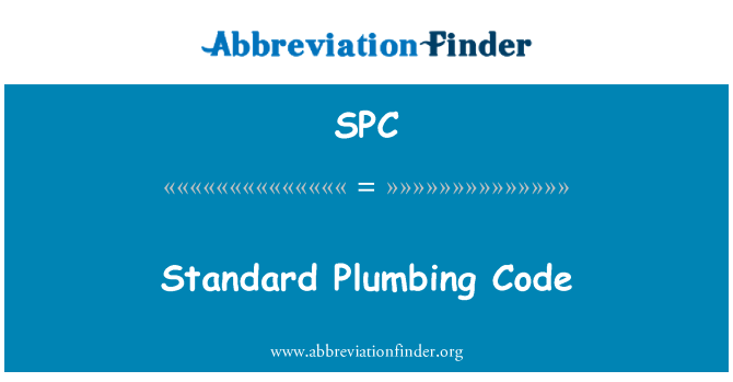 SPC: Standard Plumbing Code