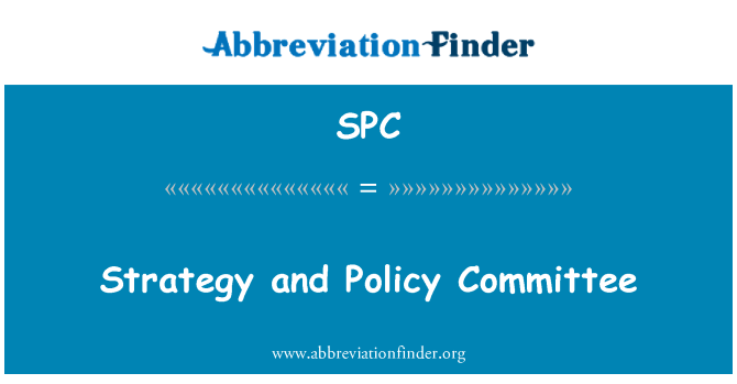 SPC: Strategy and Policy Committee