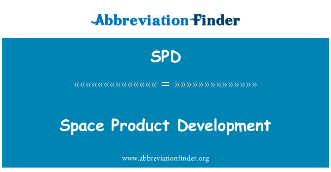 SPD: Space Product Development