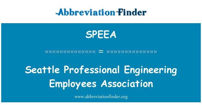 SPEEA: Seattle Professional Engineering Employees Association