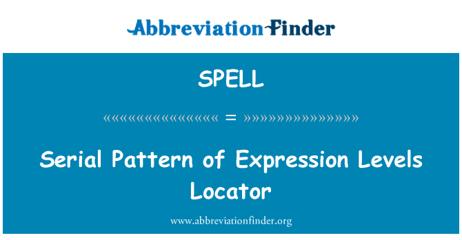 SPELL: Serial Pattern of Expression Levels Locator