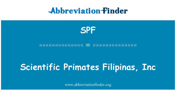 SPF: Scientific Primates Filipinas, Inc