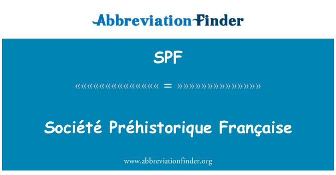 SPF: Société Préhistorique Française