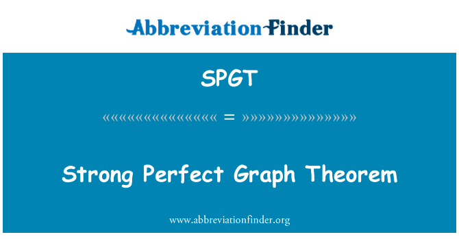 SPGT: Strong Perfect Graph Theorem