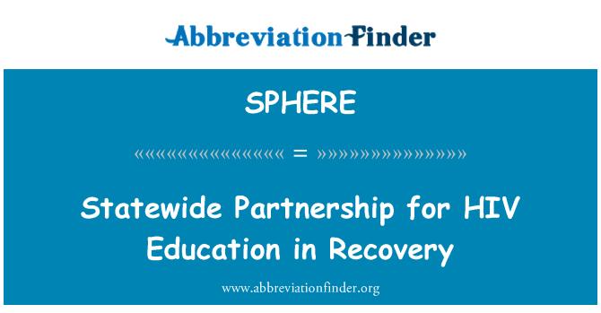 SPHERE: Asociación Estatal para la educación sobre el VIH en la recuperación