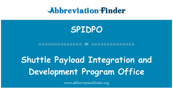 SPIDPO: Transporte carga integración y la oficina del programa de desarrollo