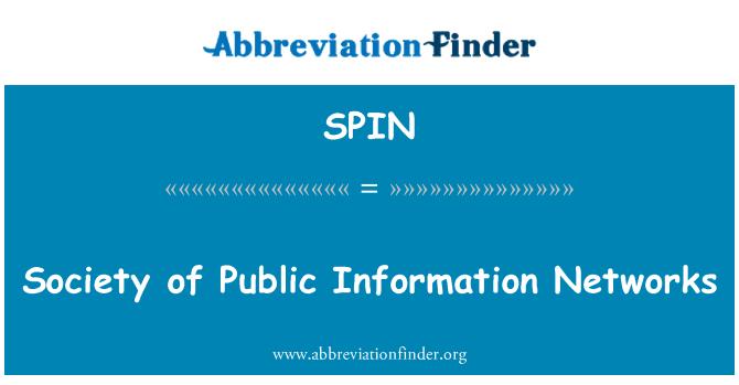 SPIN: Sociedad de redes de información pública