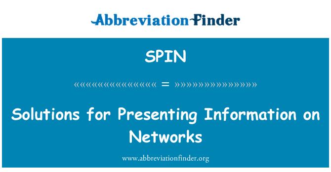 SPIN: Soluciones para la presentación de información en redes