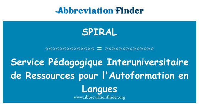 SPIRAL: Service Pédagogique Interuniversitaire de Ressources pour l'Autoformation en Langues