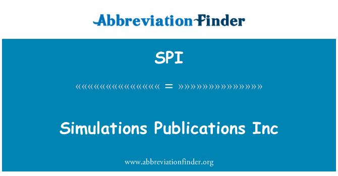 SPI: Simulations Publications Inc