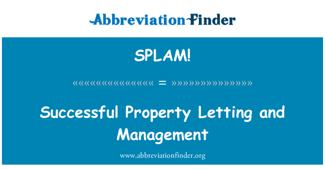 SPLAM!: 成功物业租赁和管理