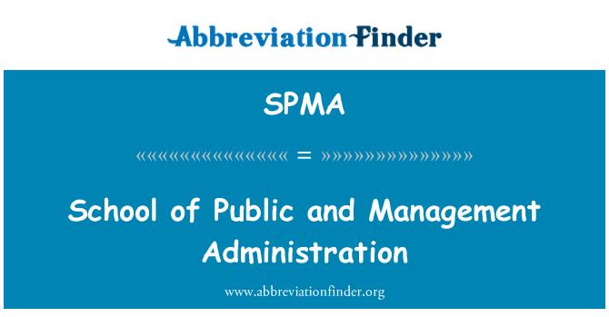SPMA: Escuela de administración pública y gestión