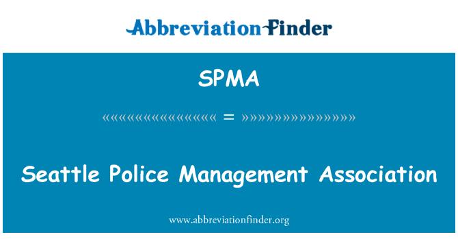 SPMA: Asociación de gestión de policía de Seattle