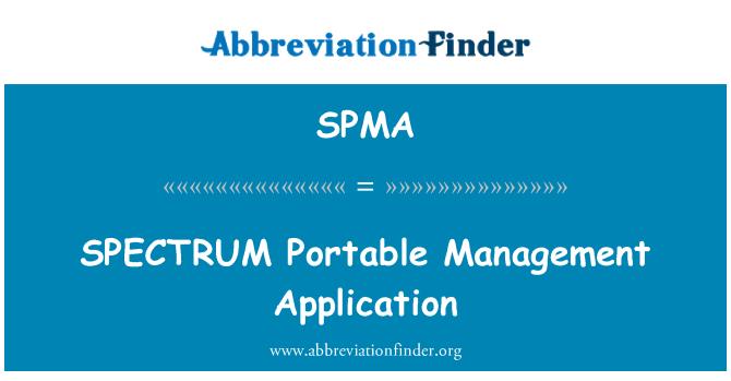 SPMA: Aplicación de gestión Portable de espectro