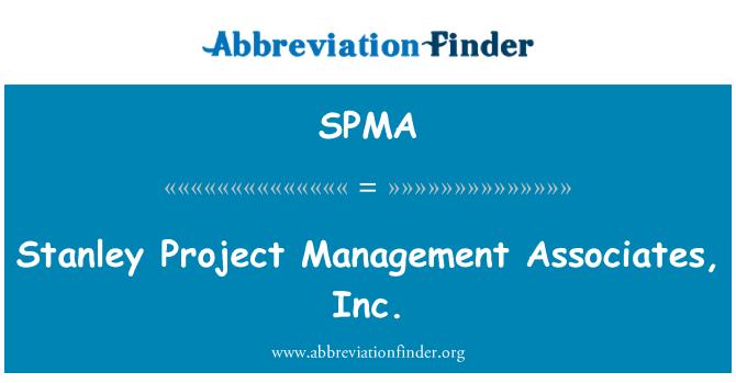 SPMA: Stanley Project Management Associates, Inc.