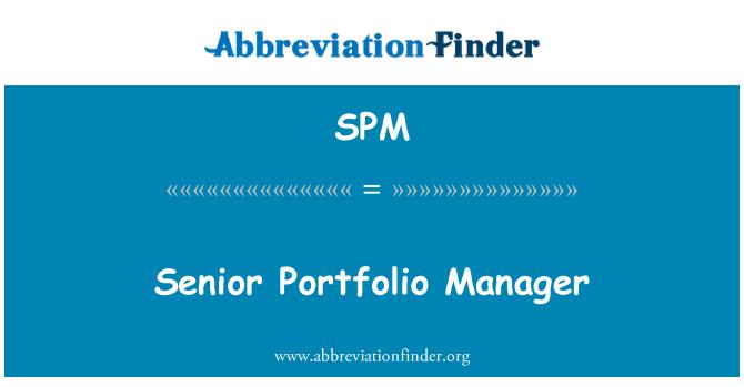 SPM: Senior Portfolio Manager