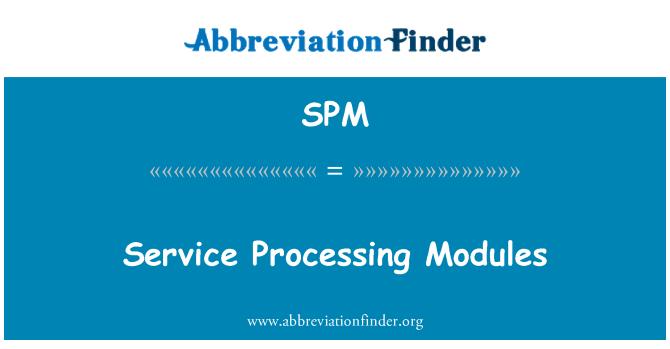 SPM: Service Processing Modules