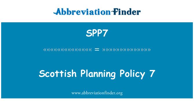 SPP7: Scottish Planning Policy 7