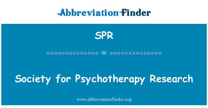 SPR: Society for Psychotherapy Research