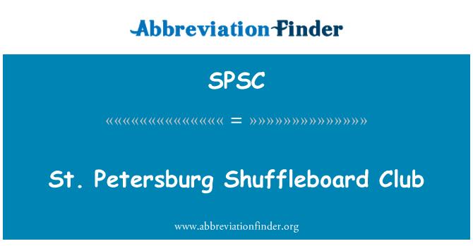 SPSC: St. Petersburg Shuffleboard Club