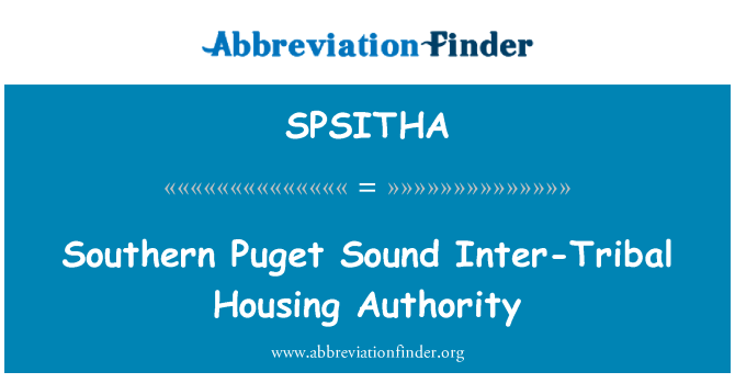 SPSITHA: Southern Puget Sound Inter-Tribal Housing Authority