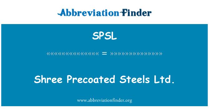 SPSL: Shree çelikler Ltd. Precoated