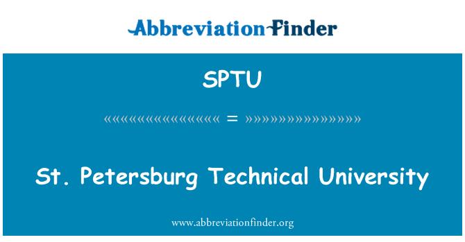 SPTU: St. Petersburg Technical University