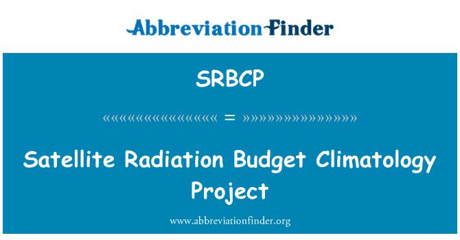 SRBCP: Satelliit kiirguse eelarve klimatoloogia projekti
