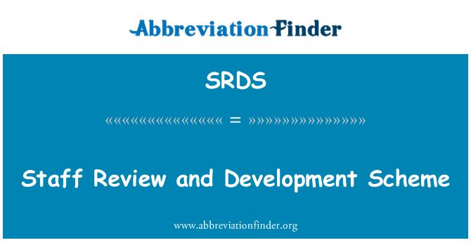 SRDS: Revisión de personal y plan de desarrollo