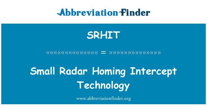 SRHIT: Small Radar Homing Intercept Technology