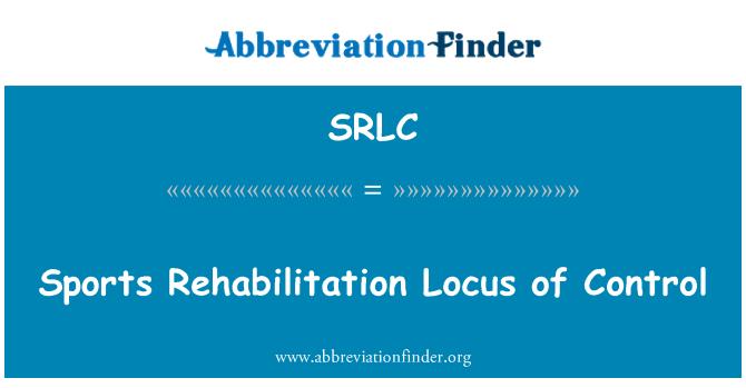 SRLC: Sports Rehabilitation Locus of Control