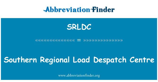 SRLDC: Southern Regional Load Despatch Centre
