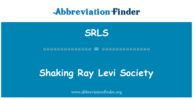 SRLS: Ray Levi toplumun sallayarak