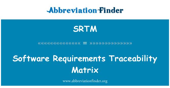 SRTM: Tarkvara nõuded jälgitavuse maatriks