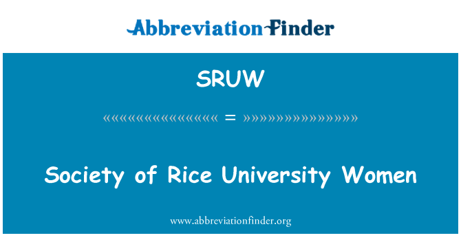 SRUW: Sociedad de mujeres de la Universidad de Rice