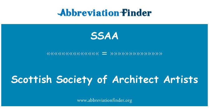SSAA: Sociedad escocesa de arquitecto artistas
