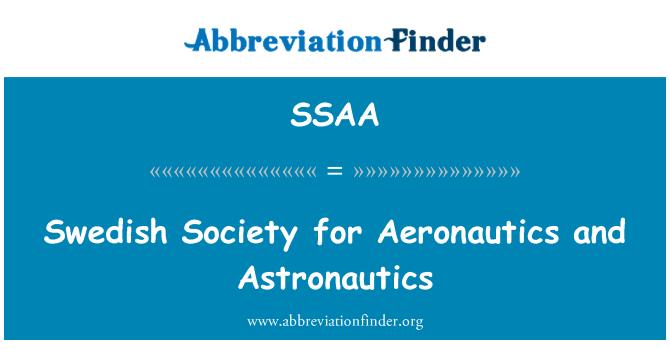 SSAA: Sociedad sueca para la aeronáutica y astronáutica