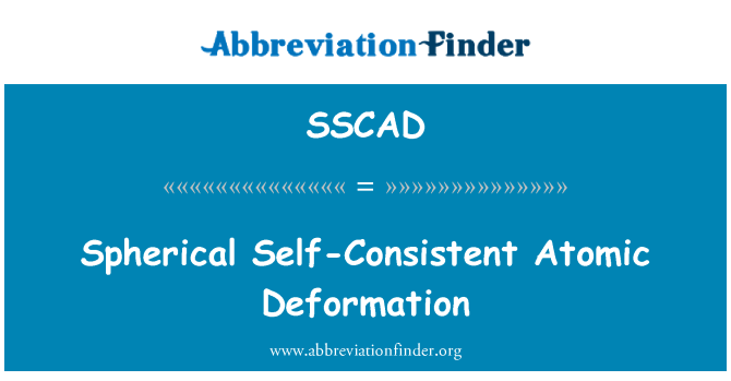 SSCAD: Spherical Self-Consistent Atomic Deformation