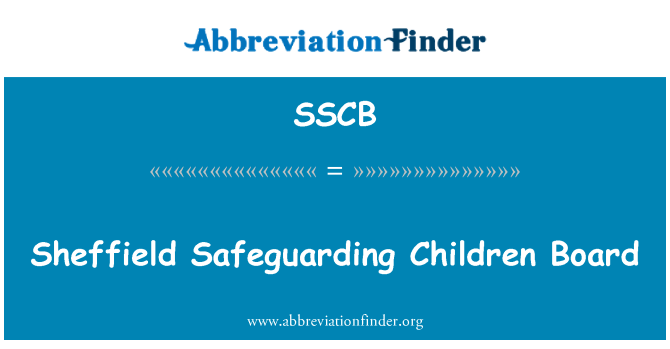 SSCB: Sheffield kaitsta laste pardal