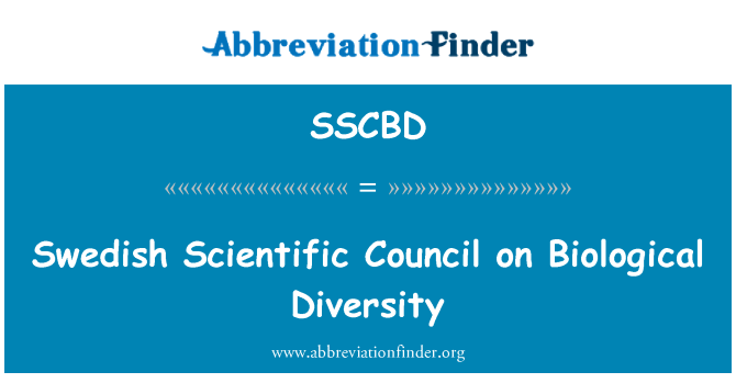 SSCBD: Swedish Scientific Council on Biological Diversity