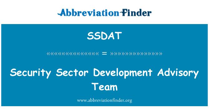 SSDAT: Security Sector Development Advisory Team