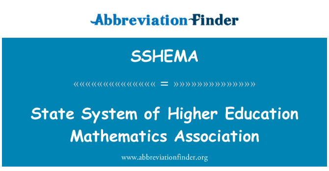 SSHEMA: State System of Higher Education Mathematics Association