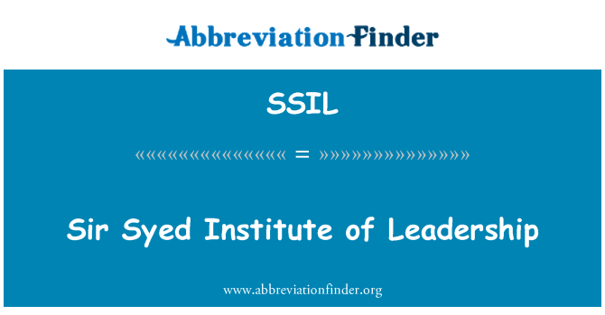 SSIL: Sir Syed Institute of Leadership