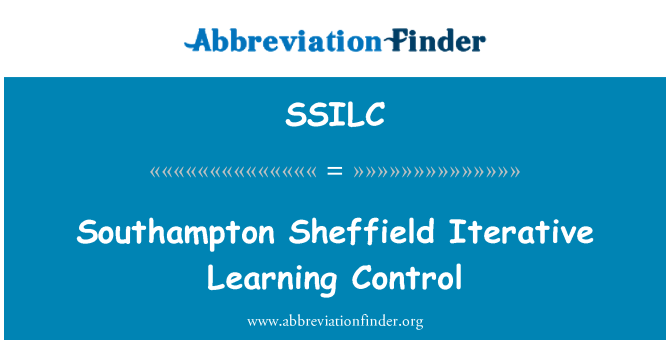 SSILC: Southampton Sheffield Iterative Learning Control