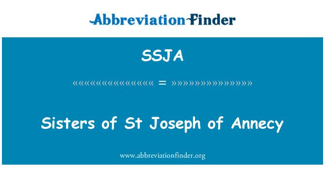 SSJA: Sisters of St Joseph of Annecy