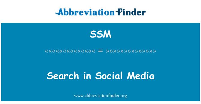 SSM: Buscar en los medios sociales